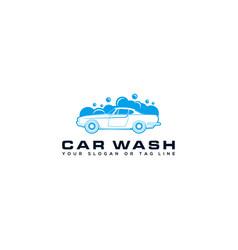Car wash logo design vector