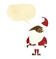 Cartoon santa claus with speech bubble vector