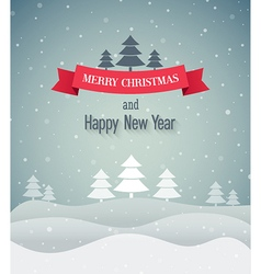 Christmas vintage greeting card vector image