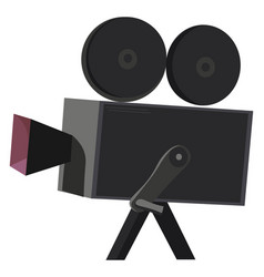 Clipart a black-colored movie camera or color vector