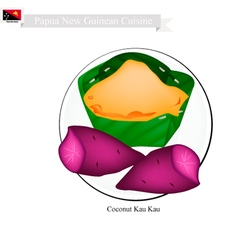 Coconut Kau Kau or Papua New Guinean Food vector