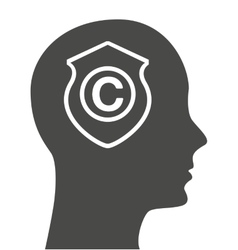 Copyright profile isolated icon vector