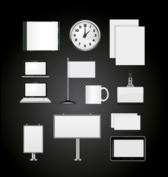 corporate identity blank design templates vector image