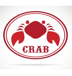 Crab vector image