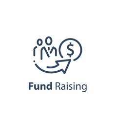 Crowd funding concept fund raising campaign vector