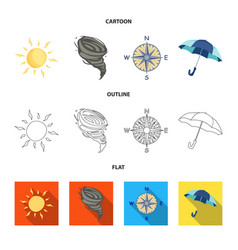 Design of weather and climate sign set of vector