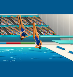 Diving competition vector