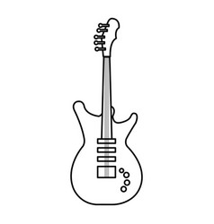 Electric guitar instrument isolated icon vector