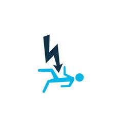 Electrocution hazard icon colored symbol premium vector