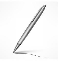 expensive tilt pen on white vector image