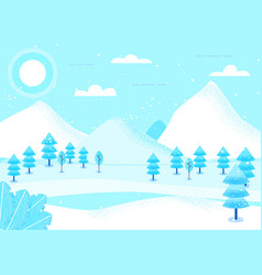fantasy landscape winter vector image