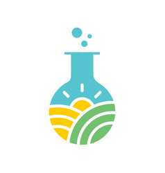 farm laboratory logo vector image