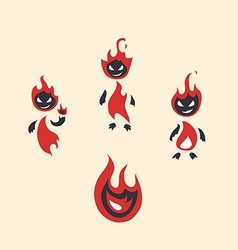 fiery monsters vector image