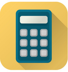 Flat icon toy calculator vector