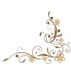 Flowers brown vector
