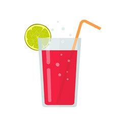 fresh drink glass smoothie or diet beverage vector image