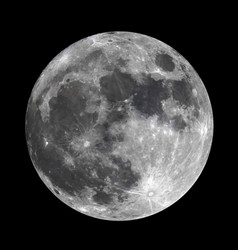 Full moon photoreal vector