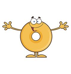 Funny Donut Cartoon vector