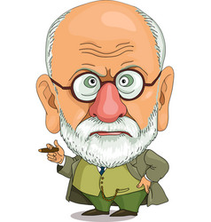 funny freud vector image