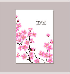 Greeting card banner or wedding invitation with vector