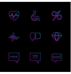 Heart rate handicap percentage ecg message vector