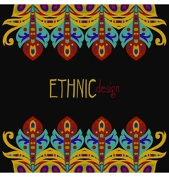 horizontal ethnic african template vector image