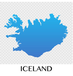 iceland map in europe continent design vector image