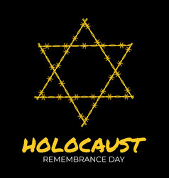 international holocaust remembrance day background vector image