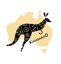 Kangaroo sketch for your design vector