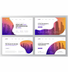 landing page templates set for business vector image