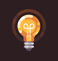 light bulb shining in the dark vector image
