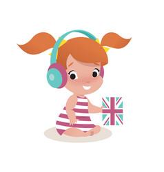 Little girl child vector