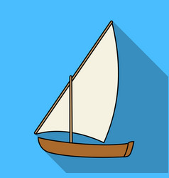 little river sailing for funthe boat which sails vector image