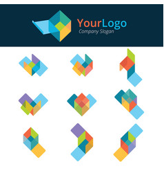 logo and graphic design base on box structure vector image