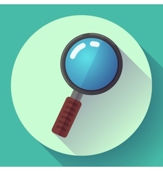 Magnifying Glass Search Icon Flat design vector image