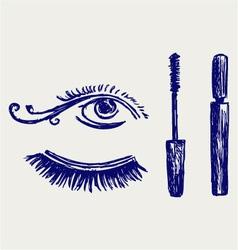 Mascara vector image