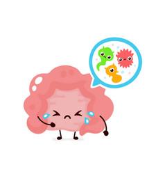 Microscopic bad bacterias microflora viruses vector