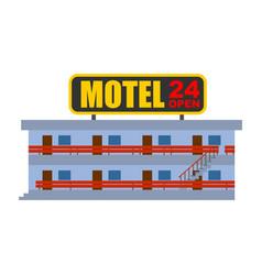 Motel isolated small cheap hotel vector