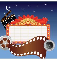 movie marque vector image