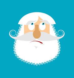 old man surprised emoji senior with gray beard vector image