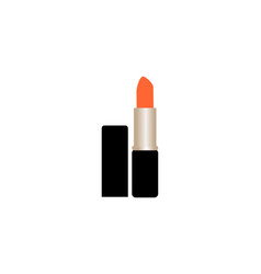 orange lipstick icon vector image
