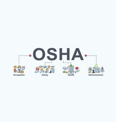 osha - occupational safety and health vector image