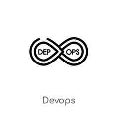 Outline devops icon isolated black simple line vector