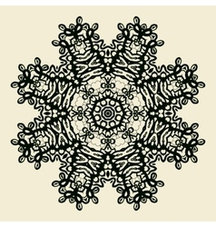 Outlined Mandala Print Stylized Oriental Lace vector image