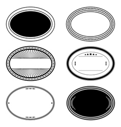 Oval Stamp Set vector image