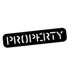 Property black stamp vector