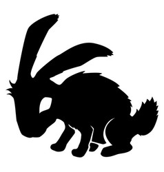 Rabbit black stencil vector