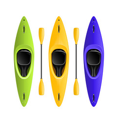 rafting or kayaking club emblem - canoe or kayak vector image
