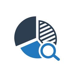 Report analysis icon vector