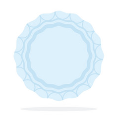 round plate with a pattern flat icon vector image